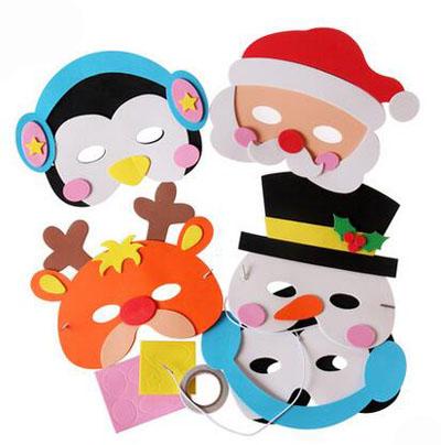 动物面具幼儿手工制作面具儿童diy自制玩具